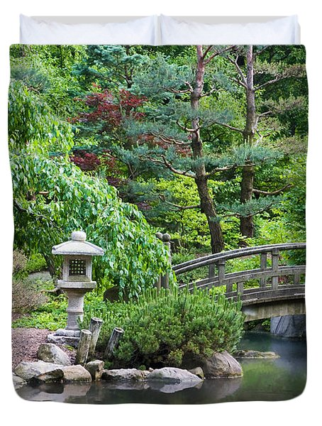 Japanese Garden Duvet Cover by Adam Romanowicz