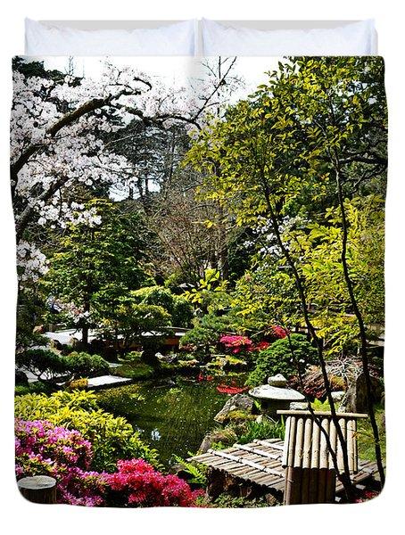 Japanese Gardens Duvet Cover by Holly Blunkall