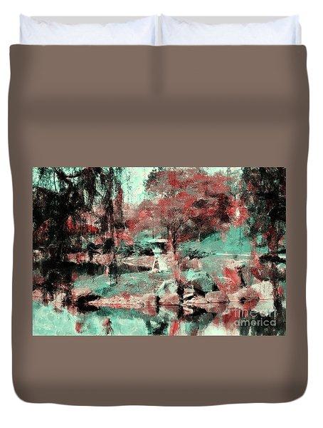 Japanese Garden's Duvet Cover by Kathleen Struckle
