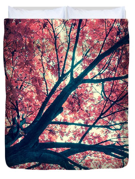 Japanese Maple - Vintage Duvet Cover by Hannes Cmarits