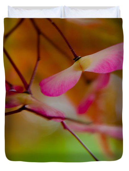 Japanese Maple Seedling Duvet Cover by Brenda Jacobs