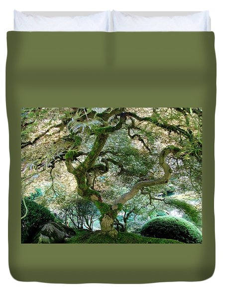 Japanese Maple Tree II Duvet Cover by Athena Mckinzie
