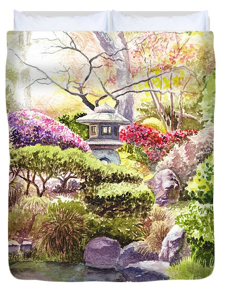 San Francisco Golden Gate Park Japanese Tea Garden  Duvet Cover