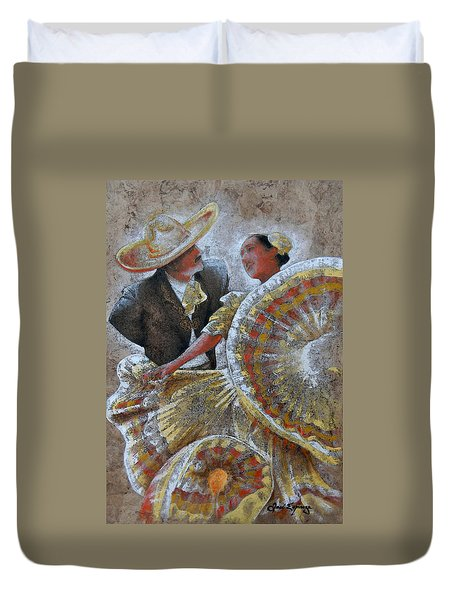 Jarabe Tapatio Dance Duvet Cover