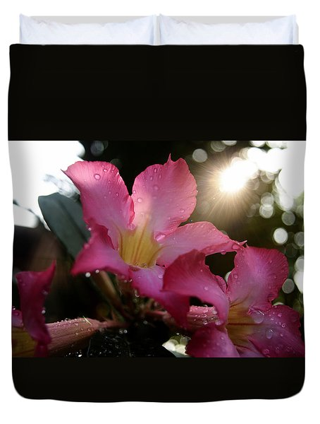 Duvet Cover featuring the photograph Jardin Du Matin by Miguel Winterpacht