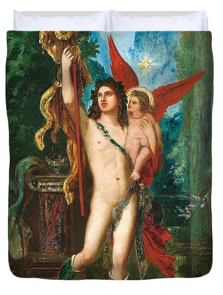Jason And Eros Duvet Cover by Gustave Moreau