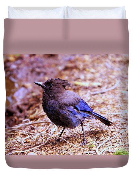 Jay  Duvet Cover by Jeff Swan
