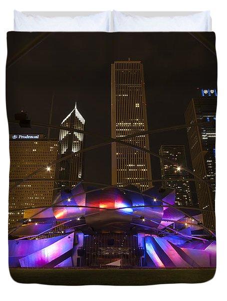 Jay Pritzker Pavilion Chicago Duvet Cover by Adam Romanowicz