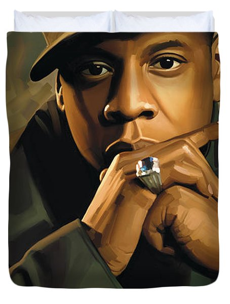 Jay-z Artwork 2 Duvet Cover by Sheraz A