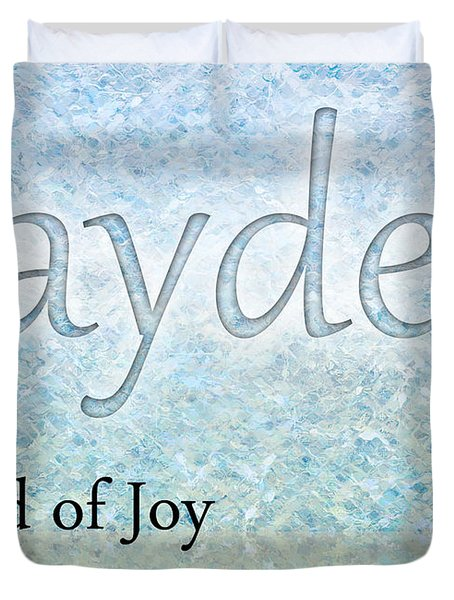 Jayden - Sound Of Joy Duvet Cover by Christopher Gaston