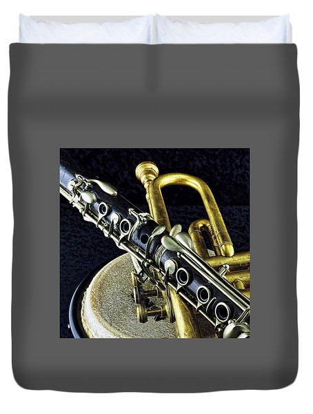 Duvet Cover featuring the photograph Jazz by Elf Evans