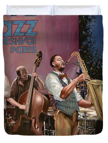 jazz festival in Paris Duvet Cover