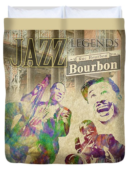 Jazz Legends Duvet Cover by Timothy Lowry