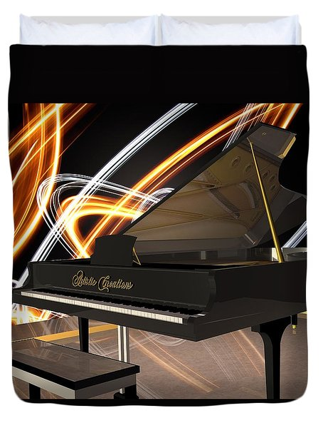 Jazz Piano Bar Duvet Cover