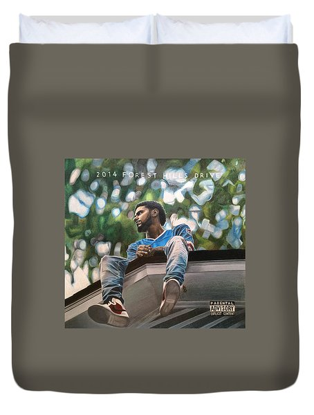 J.cole - 2014 Forest Hills Drive Drawing Duvet Cover