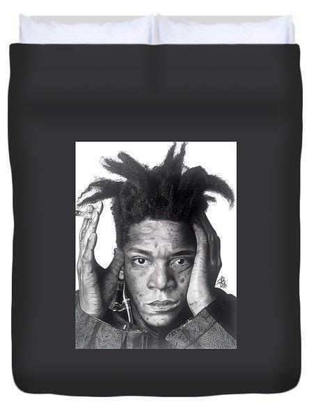 Jean-michel Basquiat Drawing Duvet Cover