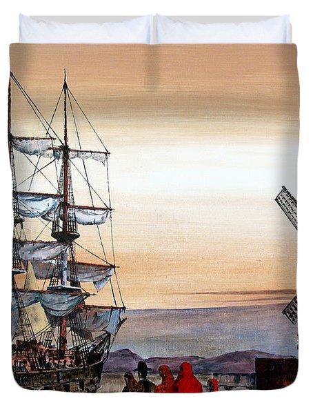 Jeanie Johnston Famine Ship Duvet Cover