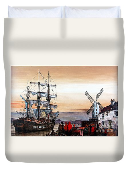 Jeanie Johnston Famine Ship Duvet Cover