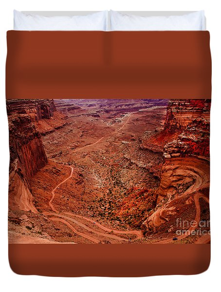 Jeep Trails Duvet Cover by Robert Bales