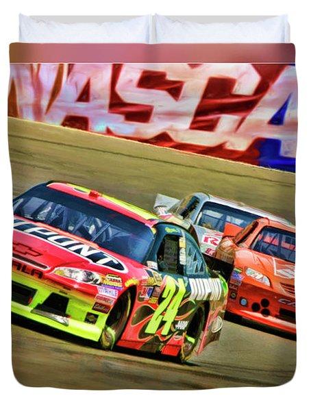 Jeff Gordon-nascar Race Duvet Cover