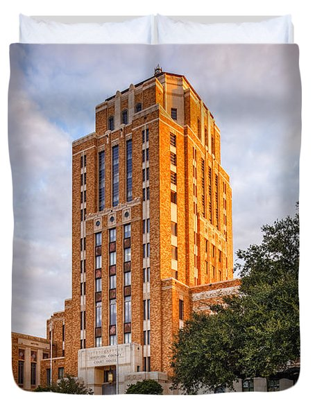 Jefferson County Courthouse At Sunrise - Beaumont East Texas Duvet Cover