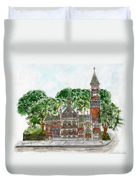 Jefferson Market Library Duvet Cover