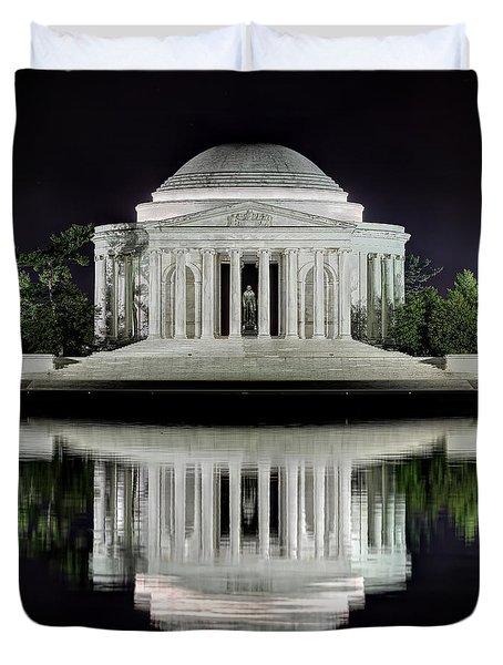Jefferson Memorial - Night Reflection Duvet Cover