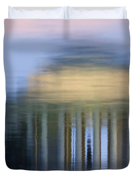 Jefferson Memorial Reflection Duvet Cover by Clarence Holmes