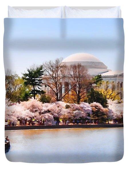 Jefferson Memorial Washington Dc Duvet Cover by Vizual Studio