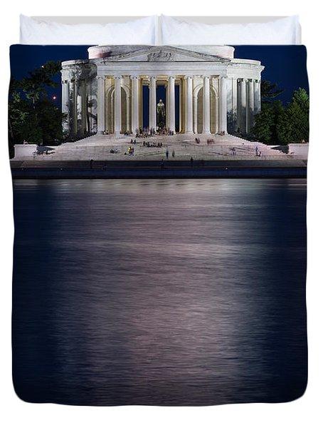 Jefferson Memorial Washington D C Duvet Cover by Steve Gadomski