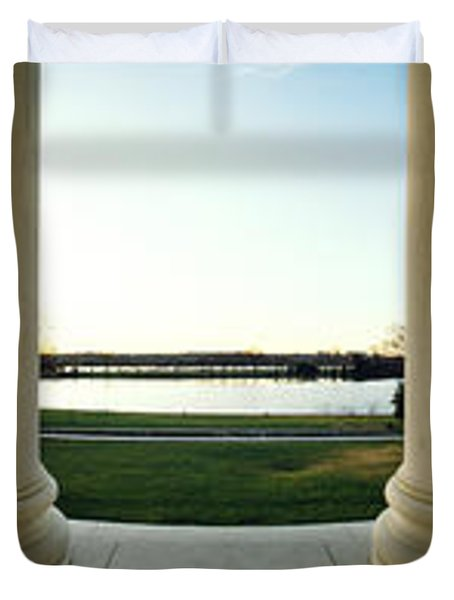 Jefferson Memorial Washington Dc Duvet Cover by Panoramic Images