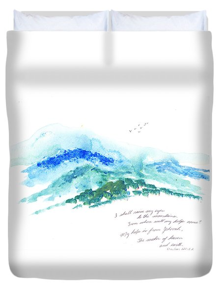 Jehovah Helps Us Duvet Cover by B L Qualls