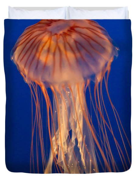 Duvet Cover featuring the photograph Jelly Fish by Eti Reid