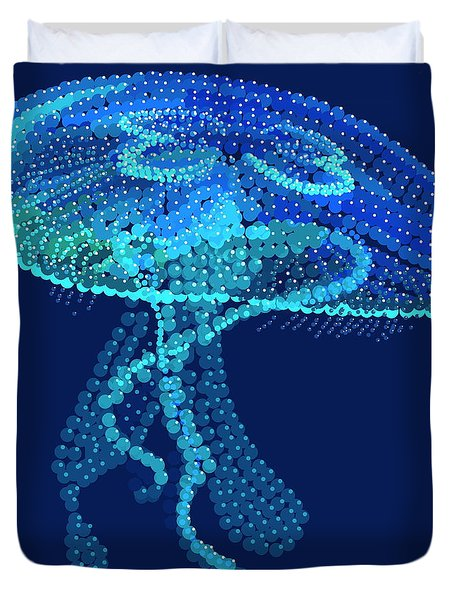 Jellyfish Bedazzled Duvet Cover