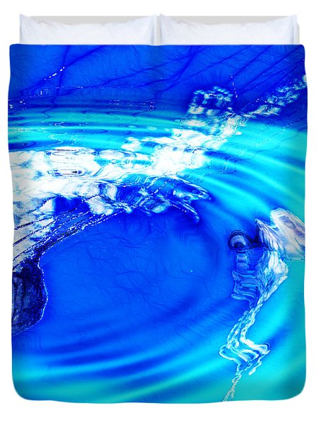 Jellyfish Pool Duvet Cover by Methune Hively