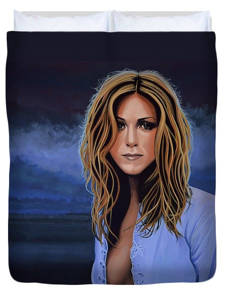 Jennifer Aniston Painting Duvet Cover