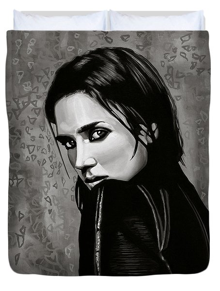 Jennifer Connelly Painting Duvet Cover