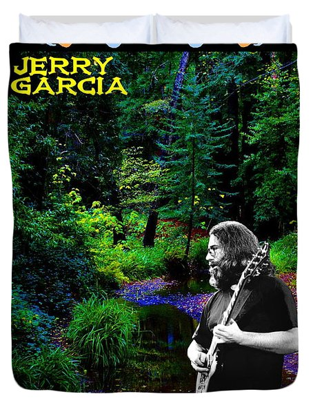 Duvet Cover featuring the photograph Jerry At Psychedelic Creek by Ben Upham