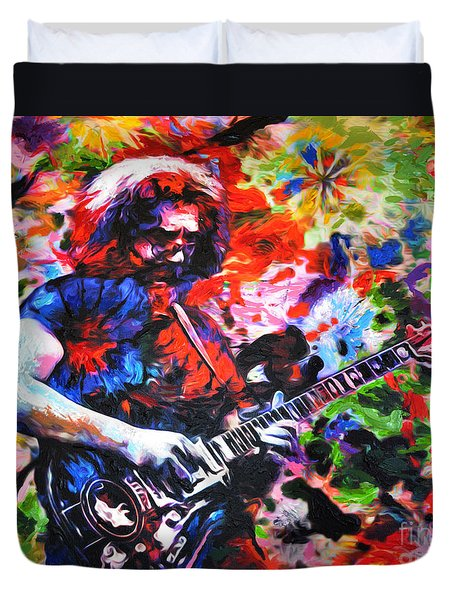 Jerry Garcia - Grateful Dead - Original Painting Print Duvet Cover