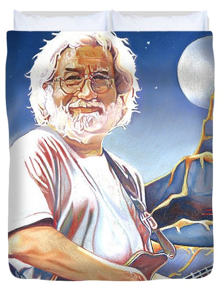 Jerry Garcia Live At The Mars Hotel Duvet Cover by Joshua Morton