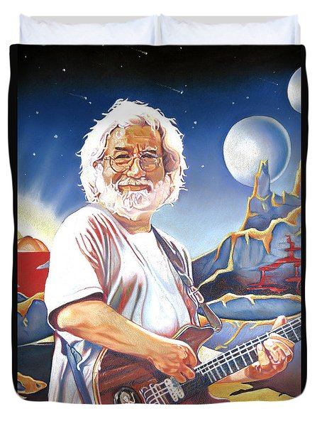Jerry Garcia Live At The Mars Hotel Duvet Cover