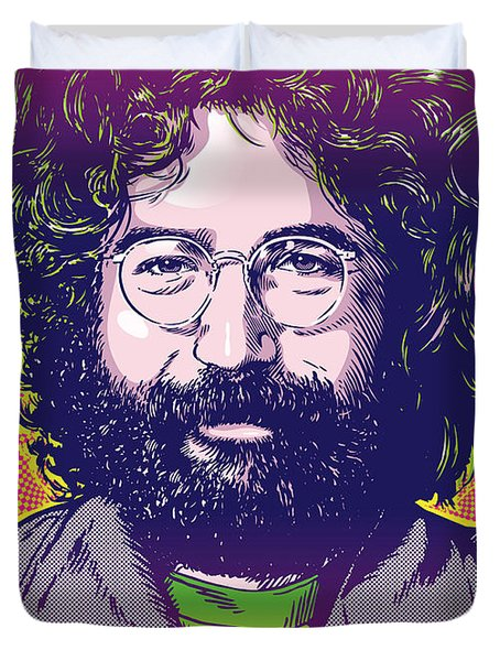 Jerry Garcia Pop Art Duvet Cover