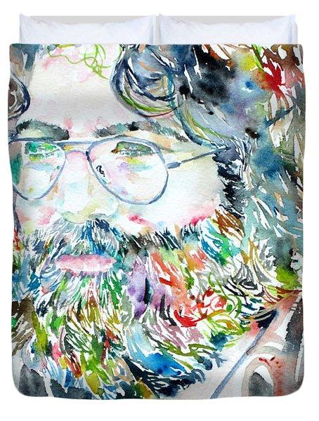 Jerry Garcia Watercolor Portrait.2 Duvet Cover