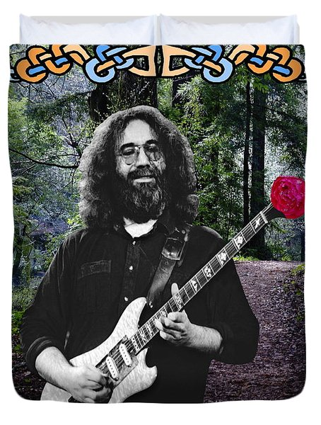 Jerry Road Rose 1 Duvet Cover
