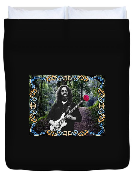 Jerry Road Rose 1 Duvet Cover by Ben Upham
