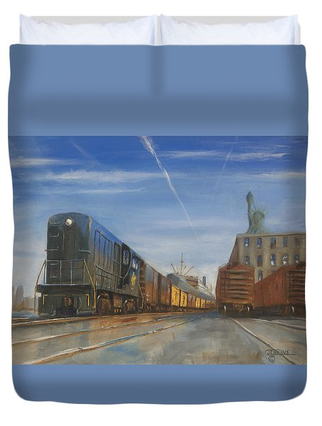 Jersey Central Lines Duvet Cover by Christopher Jenkins