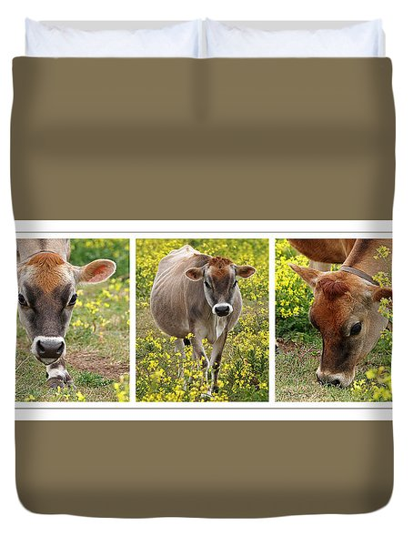 Jersey Fields Of Gold Duvet Cover
