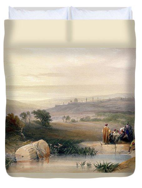 Jerusalem, April 1839 Duvet Cover