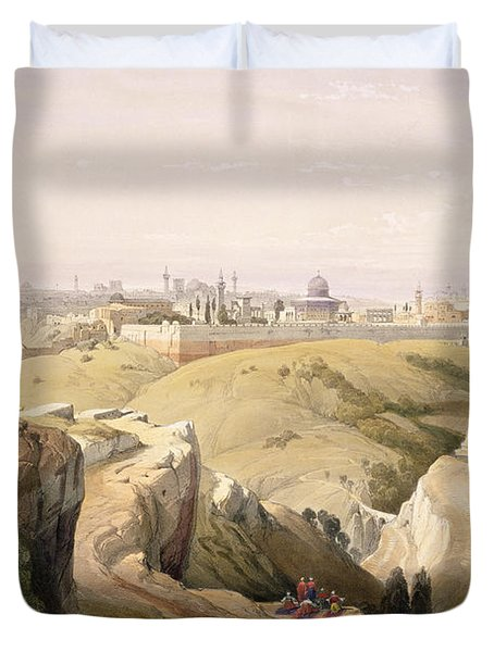 Jerusalem From The Mount Of Olives Duvet Cover