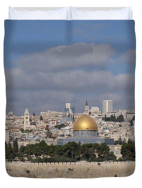 Jerusalem Old City Duvet Cover